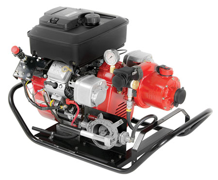 9 The BB-4 wildland pump, made by WATERAX, is often used on Type 6 and Type 4 engines with either 18- or 23-hp motors. (Photo courtesy of WATERAX.)