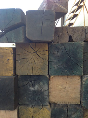 1 What kind of wood is your cribbing made from? The region of the country in which you work will often determine the type of wood that is available for your cribbing and shoring. (Photos by author