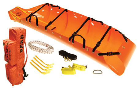 6 Skedco produces the SK200 Sked stretcher that can be used to extract victims from tight structural collapse or trench collapse situations. (Photo courtesy of Skedco