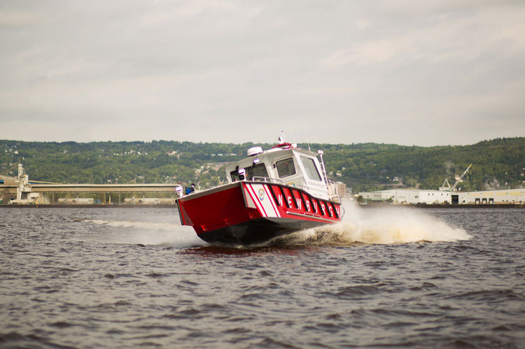 Lake Assault Boats recently assisted the Superior, Wisconsin Fire Department in its response to a fire on an ore boat at Fraser Shipyards.