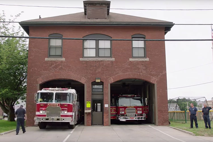 Exterior of a fire station