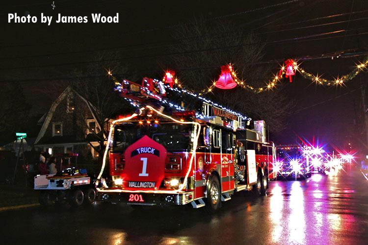 A fire apparatus in last year's Wallington (NJ) holiday parade.