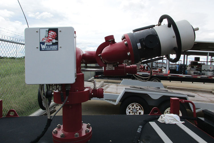 10 Last year, Tyco's Williams Fire and Hazard Control introduced the single swivel Ranger nozzle that will flow up to 3,000 gpm. (Photo courtesy of Tyco Fire Protection Products.)