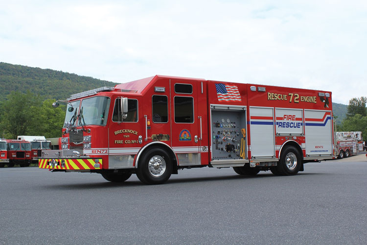 1 The Brecknock Township (PA) Fire Company No. 1 had KME build this rescue-pumper that became the department's Rescue Engine 72.