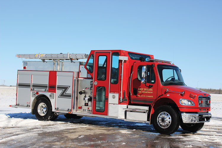 6 East Selkirk Fire Department, in Manitoba, Canada, had Fort Garry Fire Trucks build this enclosed-pump-panel pumper on a Freightliner commercial chassis. (Photos 4-6 courtesy of Fort Garry Fire Trucks
