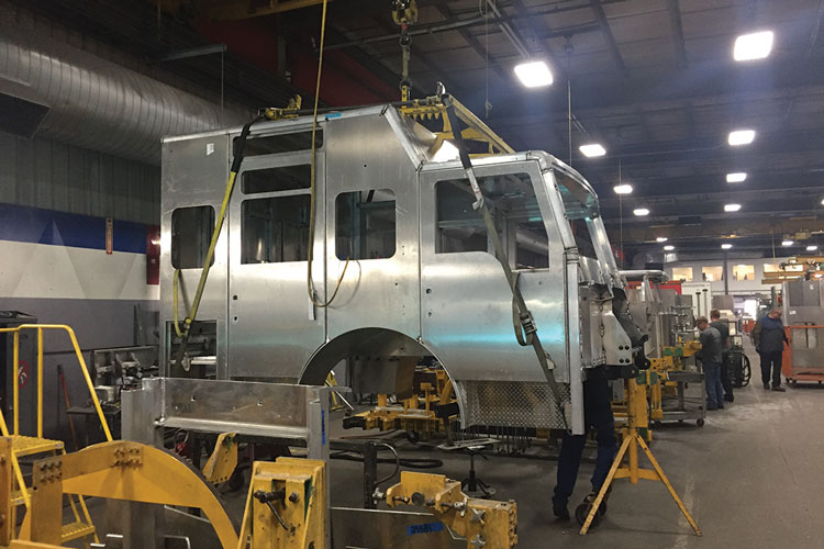 2 Pierce's IPP facility is where cab fabrication takes place for all its fire apparatus. (Photos by author unless otherwise noted.)