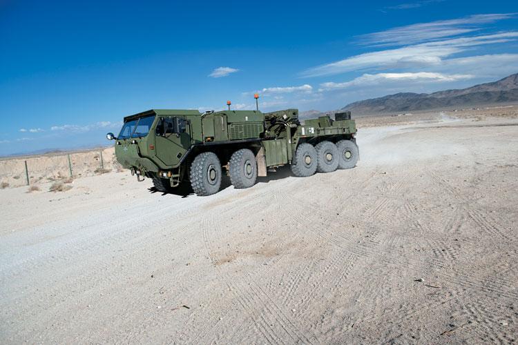 8 An example of the LVSR demonstrated at the Oshkosh proving ground. (Photo courtesy of Oshkosh Corporation.)