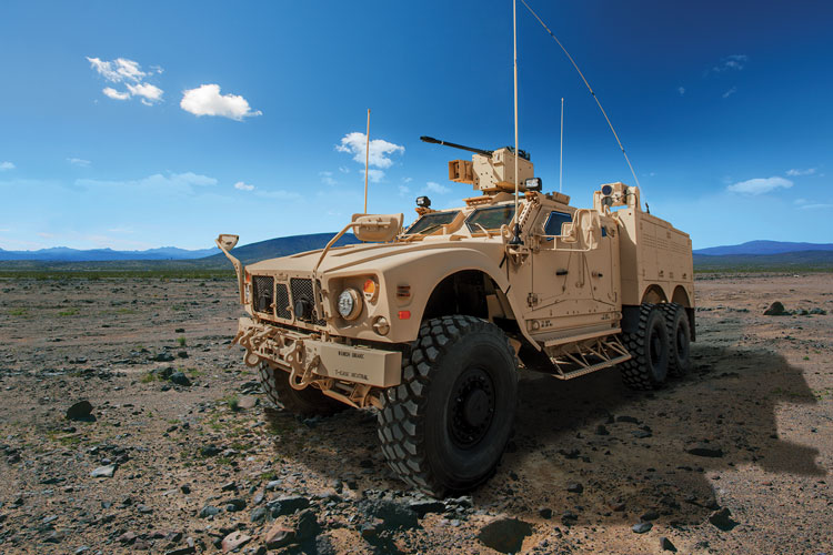 9 An example of the M-ATV demonstrated at the Oshkosh proving ground. (Photo courtesy of Oshkosh Corporation