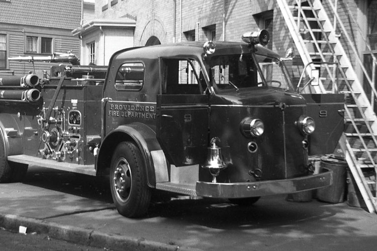 1 The Providence (RI) Fire Department purchased this Series 700 American La France 1,500-gpm pumper in 1949. First developed in 1947, the Series 700 design had a 10-year run before it was emulated by other fire apparatus manufacturers. <em>(Photo by author.)</em>