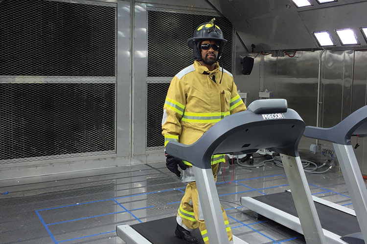 1 The Environmental Chamber of Gore's new Biophysics Laboratory simulates a range of environmental conditions experienced by end users like a firefighter. (Photos courtesy of W. L. Gore & Associates unless otherwise noted