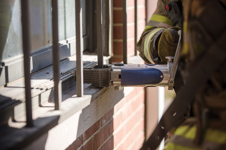 7 Its ability to cut through security bars can help with forcible entry, and the StrongArm can also cut through 3⁄8-inch rebar