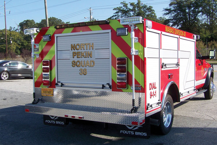 1 Pro Poly of America Inc. built the body of this light-duty rescue that Fouts Bros. built for North Pekin (IL) Fire Rescue.