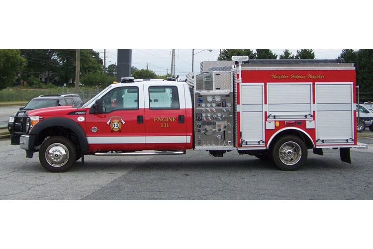 2 Fouts Bros. built this mini pumper on a PolyBilt body made by Pro Poly of America Inc. for Oconee County (SC) Fire Rescue. (Photos 1-2 courtesy of Pro Poly of America Inc