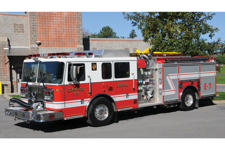 6 This Canton (NY) Fire Department Type 1 engine was built using Crompion International Cromgard C12 stainless steel.