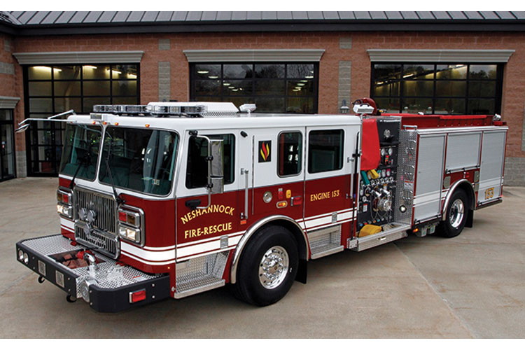 7 The Neshannock (PA) Fire Department had its new engine built with Crompion International's Cromgard C12 stainless steel. (Photos 6-7 courtesy of Crompion International