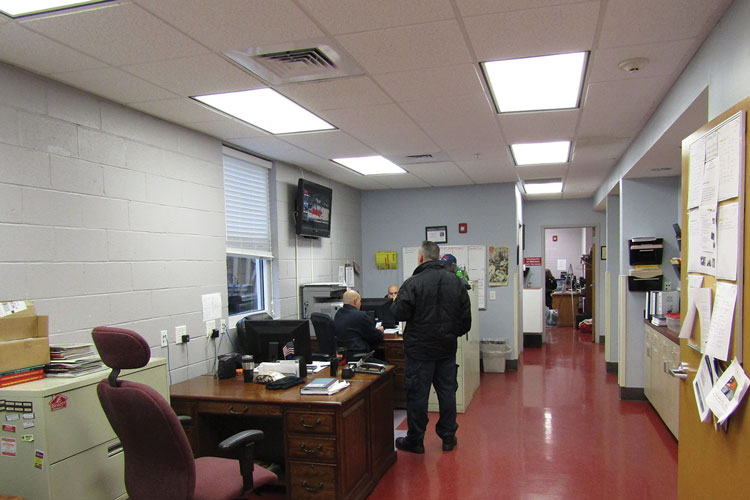 4 Administrative offices in the new station are provided for the chief, fire marshal, training captain, public education captain, and other officers