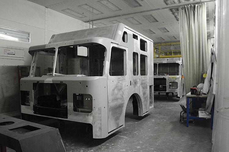 14 Prepaint sanding and priming. (Photos 14-17 courtesy of Spartan Motors.)