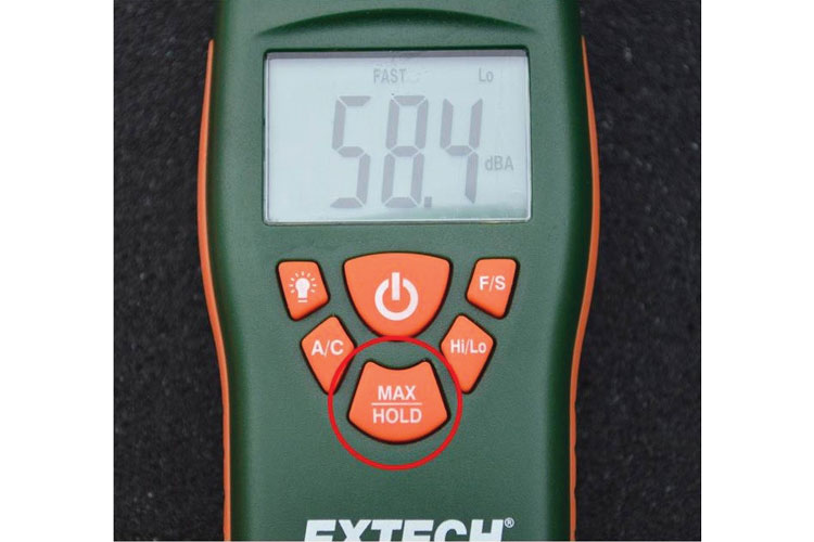 """5 The """"Max Hold"""" setting on a sound level meter."""
