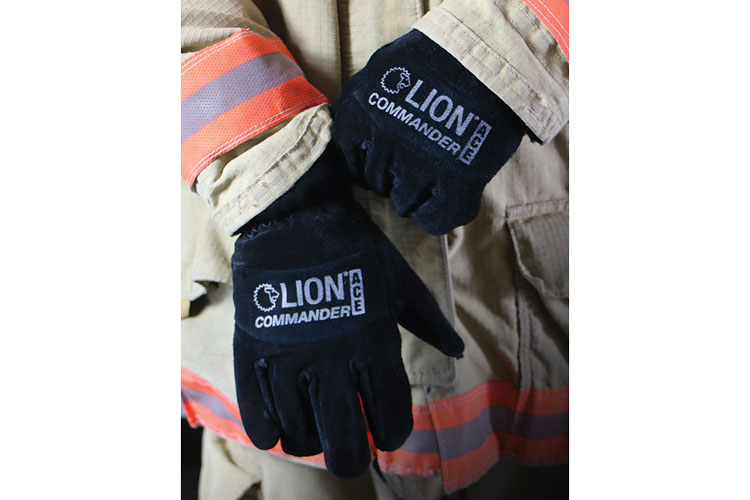3 Lion's Commander Ace structural gloves have shortened cuffs to interface better with a turnout coat.