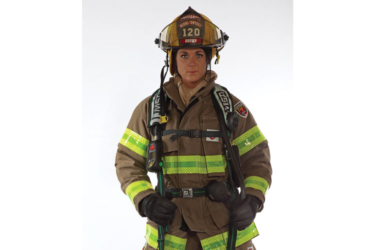 5 Fire-Dex's Dex-Pro structural firefighting glove has an ergonomic thumb pattern sewn separately into the glove's palm to give it a 360° range of motion for maximum flexibility. (Photo courtesy of Fire-Dex