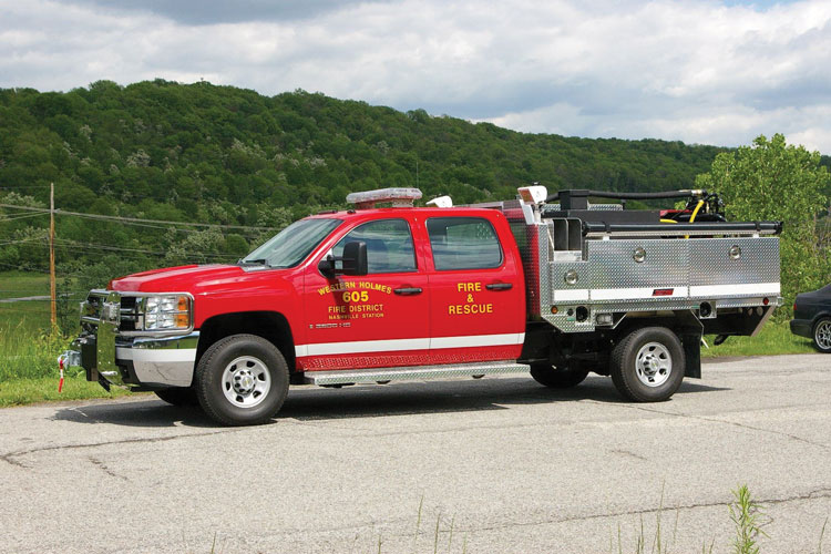 1 Summit Fire Apparatus built this quick-attack truck for the Western Holmes (OH) Fire Department on a Ford F-550 chassis. (Photos 1 and 2 courtesy of Summit Fire Apparatus.)
