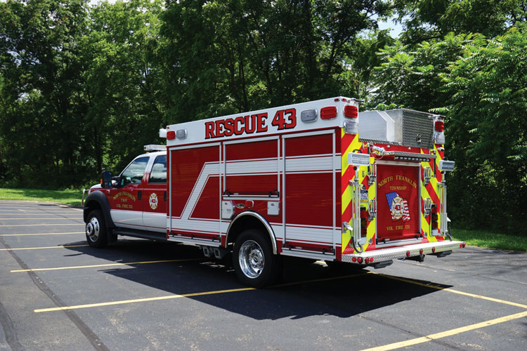 11 The North Franklin Township (PA) Volunteer Fire Company had 4 Guys Fire Trucks build this fast-attack rescue-pumper on a Ford F-550 chassis.