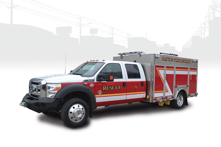 16 HME made this Pack Rat mini pumper for the Dayton (OH) Fire Department. (Photos 16 and 17 courtesy of HME.)