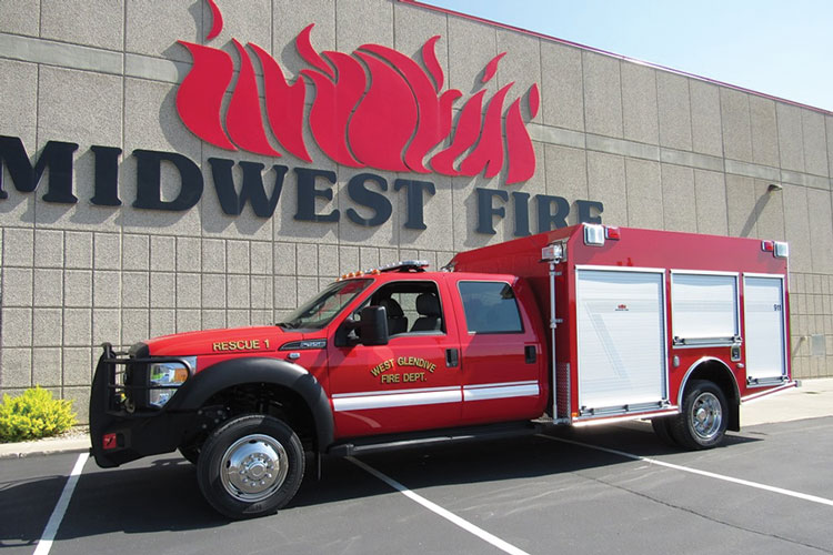 4 This fast-attack/rescue rig was built for the West Glendive (MT) Fire Department by Midwest Fire Equipment