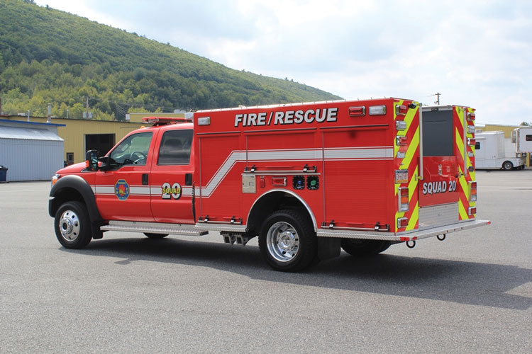 5 KME built a quick-attack squad for the Riverside (PA) Volunteer Fire Company on a Ford F-550 chassis. (Photos 5 and 6 courtesy of KME.)