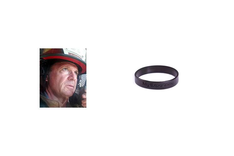Memphis firefighter and bracelet