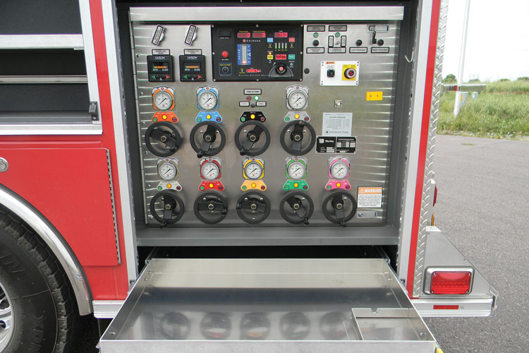 4 Spartan Emergency Response built this rear-mount pumper for the Easton (PA) Fire Department. (Photo courtesy of Spartan Emergency Response