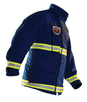 5Fire-Dex's Para-Dex EMS gear includes a coat that uses a choice of fabric shells and a CROSSTECH EMS sewn-in liner. (Photos 5 and 6 courtesy of Fire-Dex.)