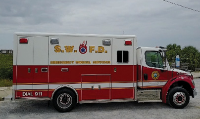 4The South Walton (FL) Fire District had this Horton ambulance refurbished and rechassied on a Freightliner M2 chassis by Hall-Mark RTC. (Photo courtesy of South Walton Fire District.)