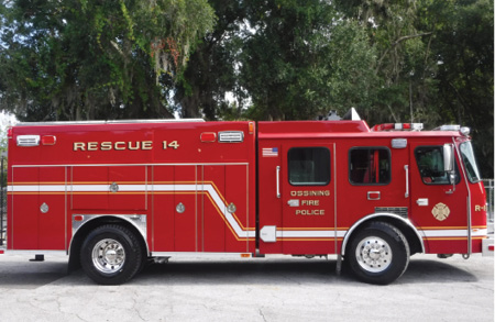 5E-ONE refurbished this heavy rescue truck for the Ossining (NY) Fire Department. (Photo courtesy of E-ONE.)