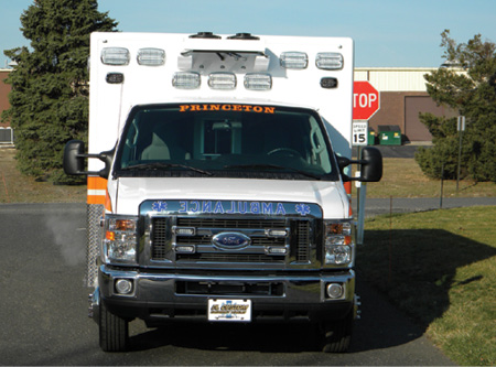 2The PL Custom ambulance for Princeton has all Whelen LED warning, scene, compartment, interior, and underbody lighting along with a Whelen Howler siren.