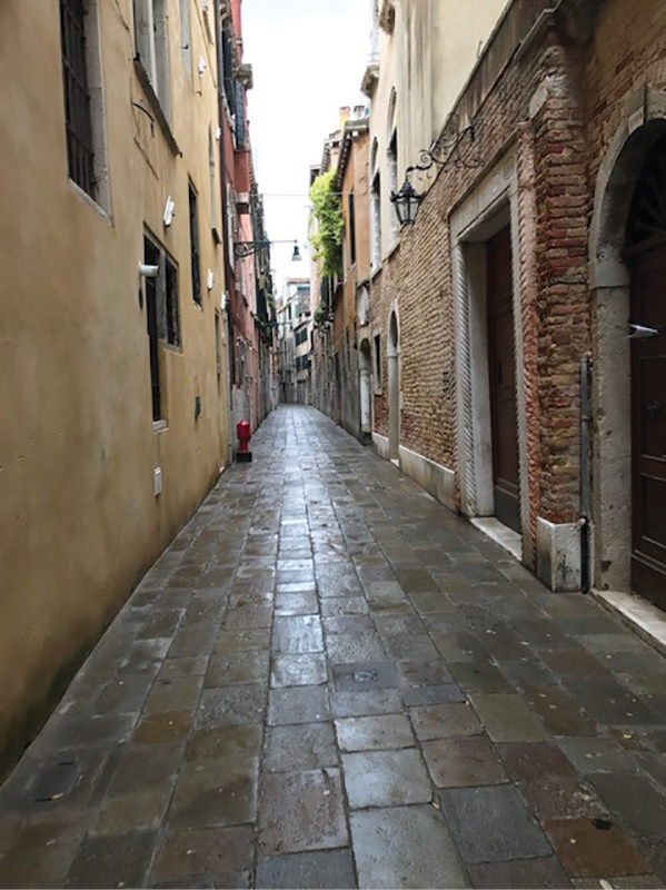 1Many streets in Italy are only wide enough for a single small passenger vehicle. (Photos by author.)
