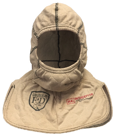 3The H41 Interceptor Hood made by Fire-Dex is made with a layer of DuPont™ Nomex® Nano Flex that reduces exposure to fireground particulates.