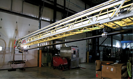 3Pierce offers load-sensing lighting on its aerial ladders where the LED lighting color changes from green to yellow to red depending on the tip load being applied. (Photos 3-5 courtesy of Pierce Manufacturing Inc.)