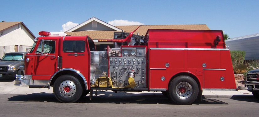 1This 1985 American La France with a 1,250-gpm pump is capable of 3,000 gpm through its four-inch Stang gun. (Photos courtesy of author.)