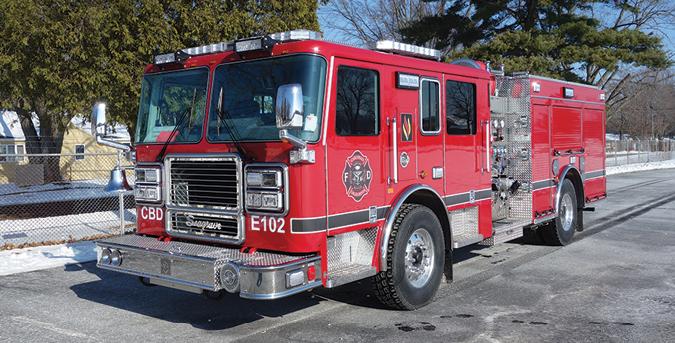 Seagrave—Carlsbad (CA) Fire Department pumper. Marauder stainless steel tilt cab and chassis; Cummins ISX12 500-hp engine; Waterous CSU 1,500-gpm pump; 500-gallon polypropylene tank; two 30-gallon foam cells; FoamPro 2002 dual-agent foam system. Dealer: Paul Writt, Seagrave Fire Apparatus LLC, Clintonville, WI.