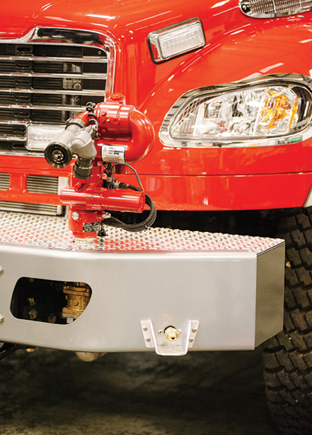 6This front bumper discharge and monitor are frequently used on wildland rigs made by Boise Mobile Equipment.