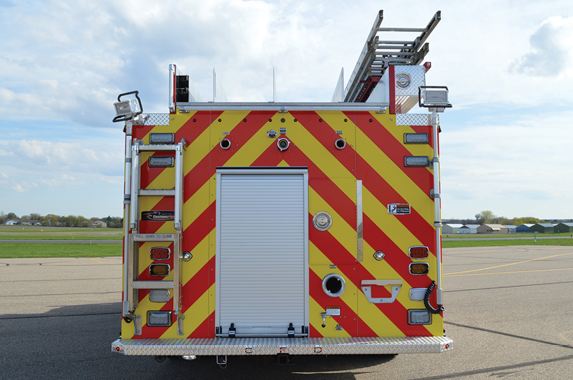 6Four winch receivers are located on the sides, front, and rear of the pumper.