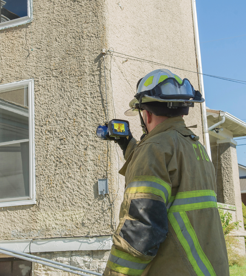 1Firefighters need to be mindful that environmental conditions can affect their TIC readings. (Photo courtesy of Bullard.)