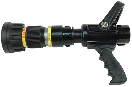 5CandS Supply makes an integrated smooth bore foam and CAFS nozzle with three interchangeable tips. (Photos 5 and 6 courtesy of CandS Supply Inc.)