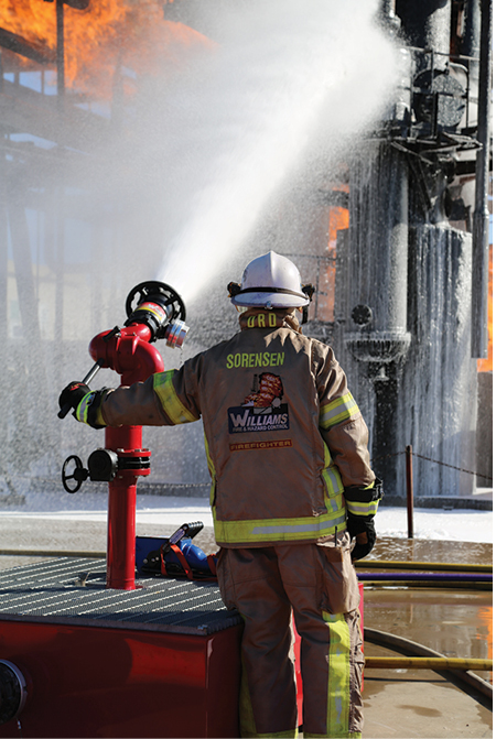 7Williams Fire and Hazard Control makes the Scout nozzle, which can flow foam from 350 to 750 gpm. (Photos 7 and 8 courtesy of Williams Fire and Hazard Control.)