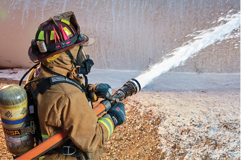 10 The QuadraCup made by Task Force Tips is a low-pressure selectable-gallonage nozzle with an integrated foam aspiration attachment.
