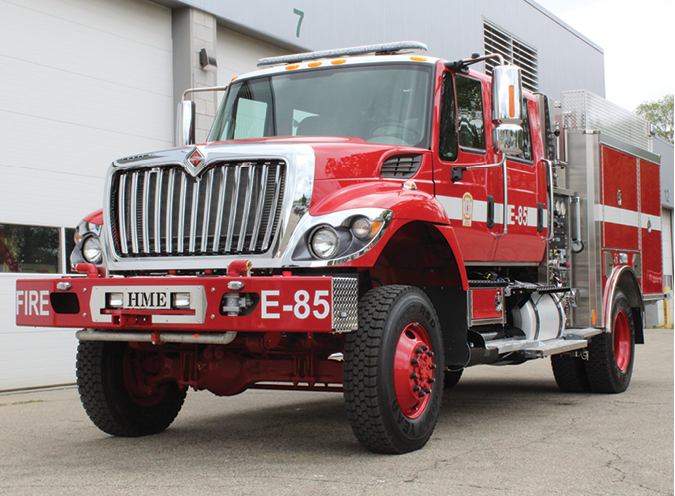 1The Los Pinos (CO) Fire Protection District went to HME Inc. for this Model 34 Type 3 wildland pumper built on an International 7400 4x4 four-door commercial chassis with seating for four firefighters. (Photos courtesy of Fire Fighter Trucks of Colorado.)