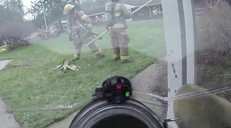 The lights on the compass indicate the direction the firefighter is heading.