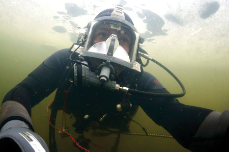 Rescue SCUBA divers face limited visibility conditions in murky water, and many underwater rescues happen at night. When there are no reliable landmarks, SCUBA divers can also have difficulty determining up from down and right from left. The Northern Star electronic compass is currently being tested by the United States Navy SEALS in Coronado, California. (Photo by author.)