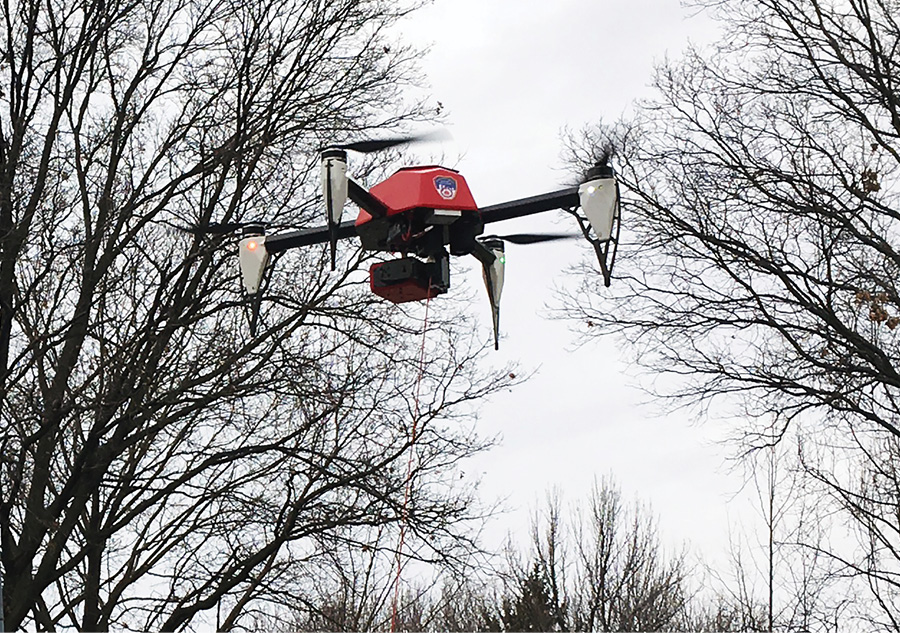 The FDNY has flown HoverFly tethered drones at fires and emergency incidents since the spring of 2017. (Photos 1-3 courtesy of the FDNY.)